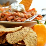 Gluten Free Mango Salsa Chili with Sweet Potato Chips