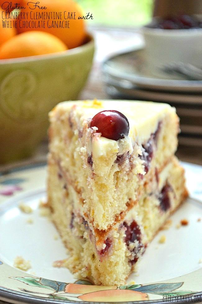 Gluten Free Cranberry Sauce Cake