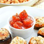 Whether a flavorful appetizer or a quick and healthy vegetarian dinner, these Gluten Free Italian Chickpea Stuffed Mushrooms are sure to please. White button mushrooms stuffed with a creamy mixture of chickpeas, cream cheese, tomatoes, and Italian spices.