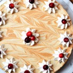 Gluten Free Maple and Molasses Pumpkin Swirled Cheesecake