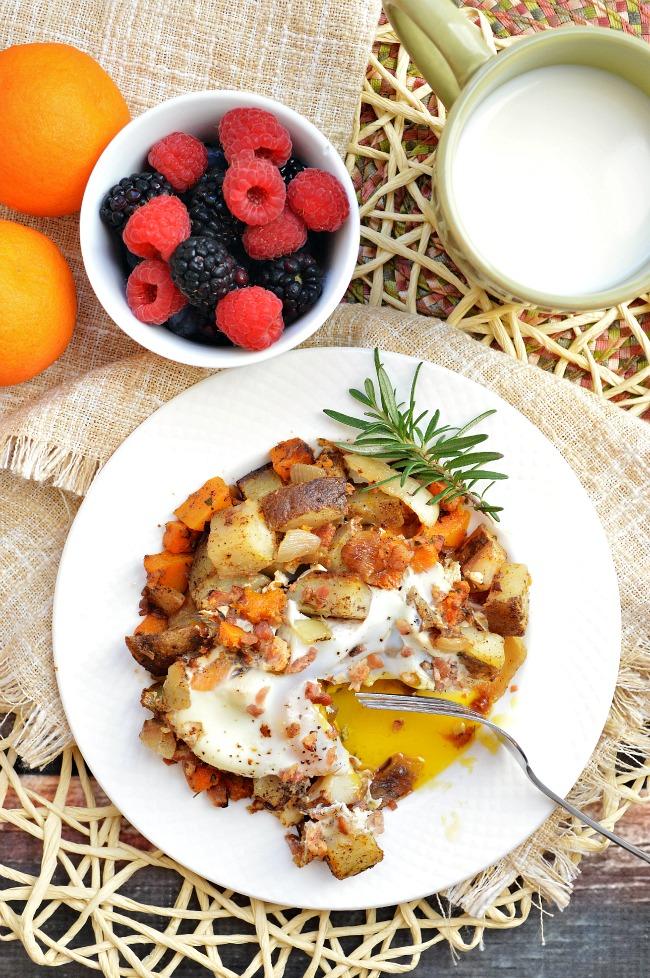 butternut squash potato breakfast scramble