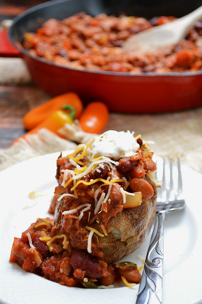 Use up leftover poultry in this savory Gluten Free Smokey Turkey Chili. It's quick, tasty, and full of veggies!