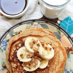 Gluten Free Cinnamon Banana Greek Yogurt Pancakes