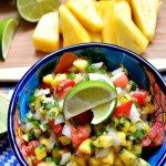 Tangy flavors with a little bit of spice come together in this refreshing Pineapple Lime Cilantro Salsa. Pair it with your favorite chips, tacos, quesadillas, or more!