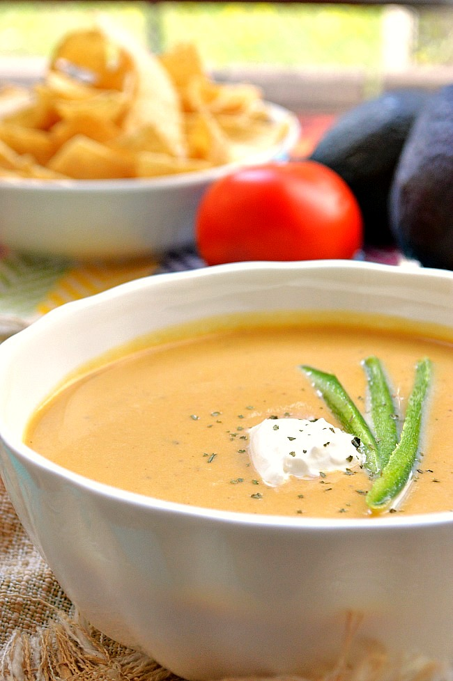This Roasted Jalapeno and Butternut Squash Cream Soup is loaded with ...