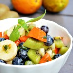 Lime and Basil Tropical Fruit Salad