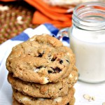 Gluten Free White Chocolate Cherry Oatmeal Cookies