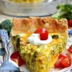 Gluten Free Broccoli Cheddar Quiche