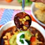 Gluten Free Vegetarian Crock Pot Taco Soup