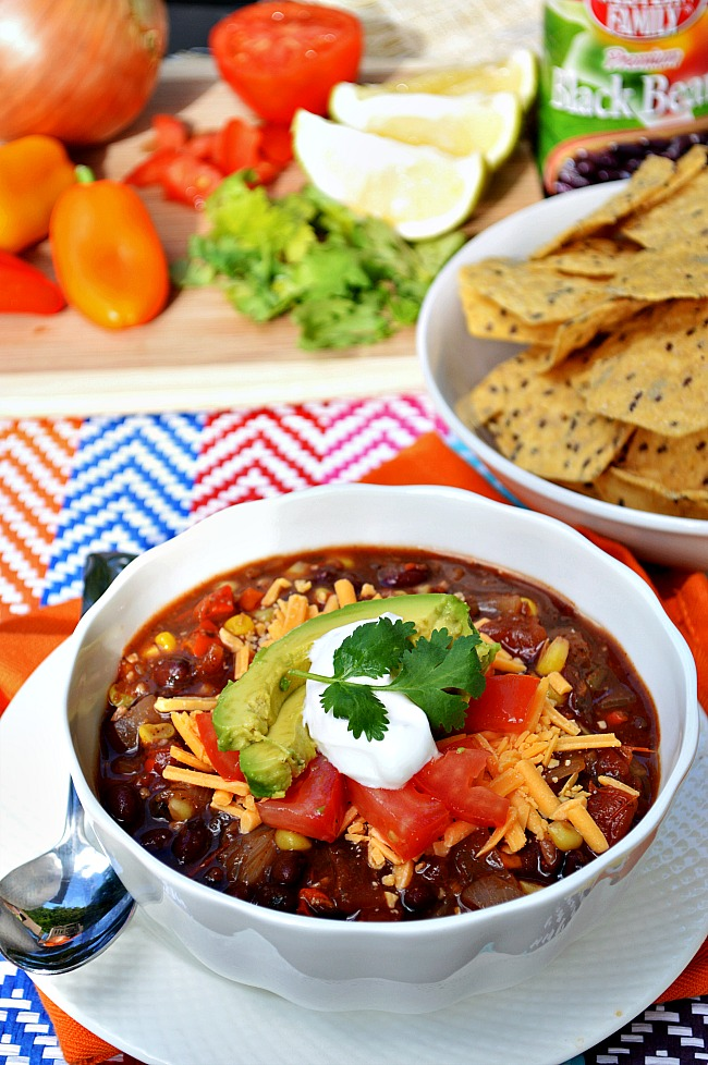 It's almost too easy to serve up this no fuss, healthy, and delicious Gluten Free Vegetarian Crock Pot Taco Soup.