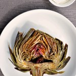 Roasted Artichokes with Lemon Garlic Mayo