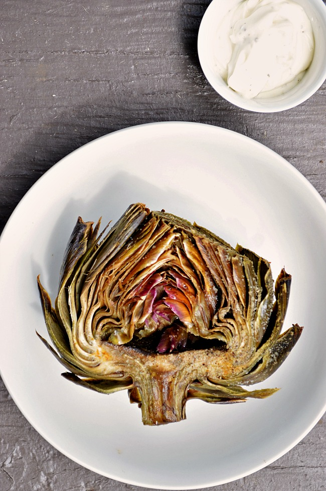 Serve this healthy and robust appetizer alongside any dinner. These Roasted Artichokes with Lemon Garlic Mayo will be a crowd pleaser.