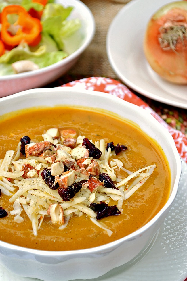 You'll love every spoonful of this warm and hearty Gluten Free Maple Roasted Kabocha Squash Soup. Be kind to your body with a bowlful of healthy roasted veggies seasoned with aromatic winter spices.