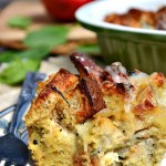 Gluten Free Rosemary Apple Cheesy Bread Casserole