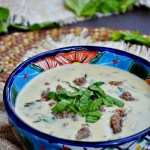 Gluten Free Italian Sausage and Spinach Cream of Leek Soup