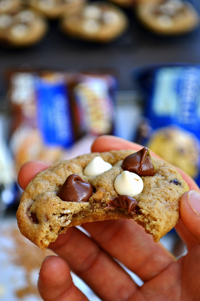 Throw any pantry ingredients into these basic homemade Gluten Free Everything Pantry Mix-in Cookies. It's a cookie that's sure to make you smile.