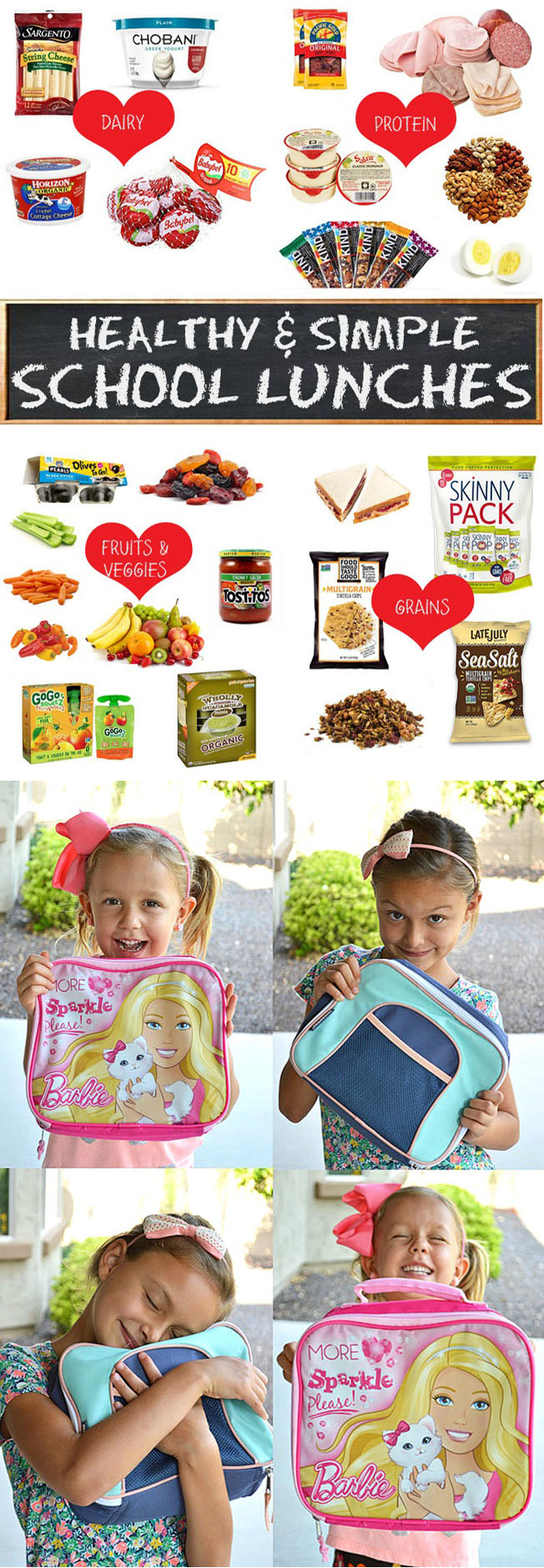 packing healthy school lunches for kids
