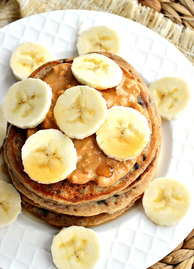 Watch everyone scramble out of bed for these insanely delicious Gluten Free Chocolate Chip Banana Pancakes. They're fluffy, tender, and perfectly sweet!
