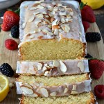 "Nothing quite screams ""SPRING!"" like a loaf of this Gluten Free Lemon Almond Pound Cake; an intensely moist lemon pound cake drizzled with a vanilla almond glaze. This is what spring dreams are made of!"