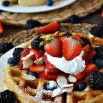 It ain't nothing but a glorious morning with these Gluten Free Belgian Waffles. They're perfectly delicious and adaptable to any taste; crispy on the outside and light and fluffy on the inside. Open wide!