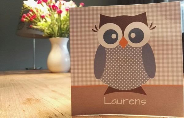 Geboortekaartje Laurens