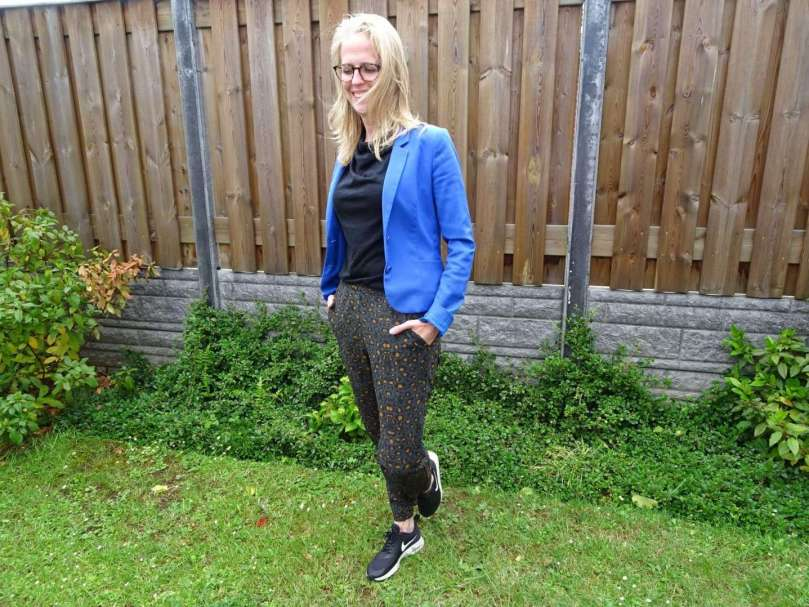 bregblogt.nl outfit foto blauw jasje casual chic kantoor