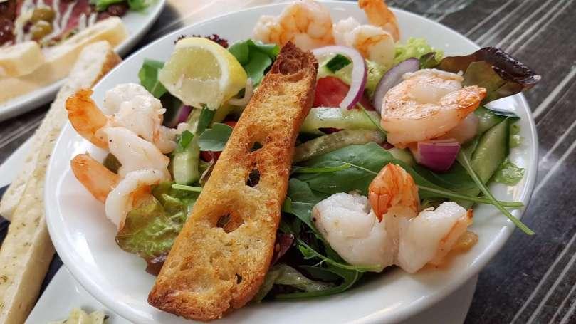 Salade scampi brasserie ver'koch Roermond bregblogt.nl