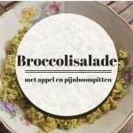 Recept: frisse broccolisalade met appel en pijnboompitjes
