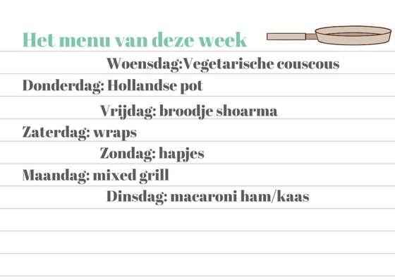 weekmenu week 14 bregblogt.nl