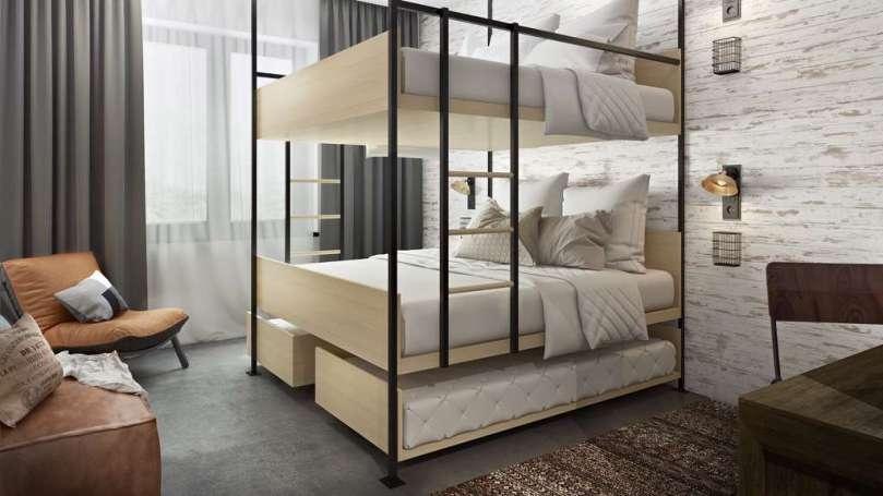 Guesthouse hotel Kaatsheuvel 6 persoonsbed BunkHouseroom bregblogt.nl