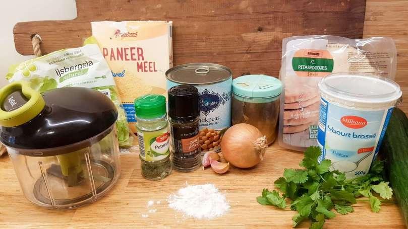 Falafel uit de airfryer ingredienten