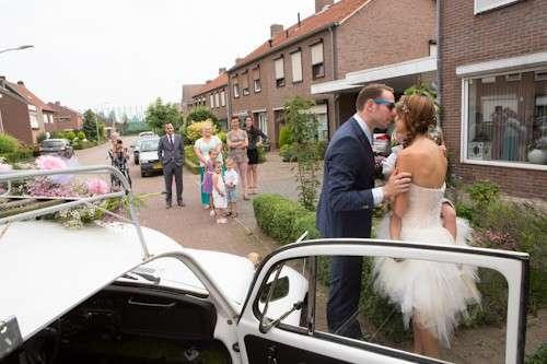 DIY festivalbruiloft bruid ophalen bregblogt.nl