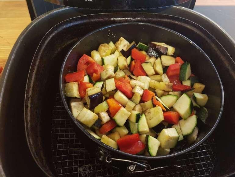 bereiding couscous met groenten en worstjes uit de Airfryer recept Aerofryer heteluchtfriteuse bregblogt.nl