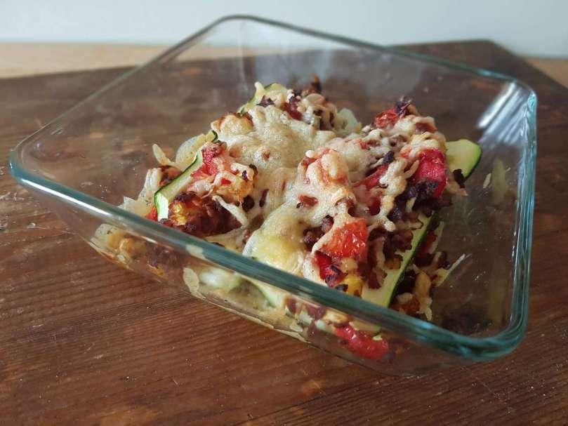 Gevulde courgette uit de Airfryer vegetarisch recept inspiratie bregblogt.nl