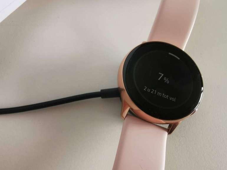 Samsung Galaxy Watch Active opladen bregblogt.nl