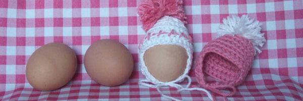 Patroon eiermutsje haken gratis