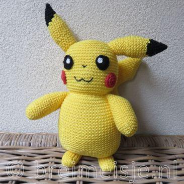 Pikachu breien, origineel breipatroon