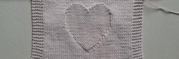 Hart breien telpatroon gratis patroon