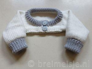 Patroon mouwvestje bedjasje baby breien