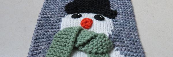 Patroon sneeuwpop breien