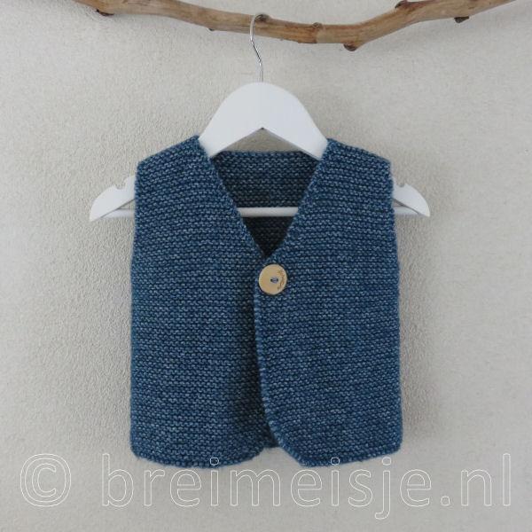 Patroon Gilet Vest Breien Voor Kind Maat 86 92 Breimeisjenl