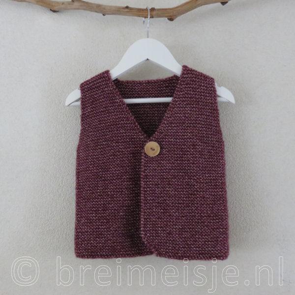 Patroon Gilet Vest Breien Voor Kind Maat 98 104 Breimeisjenl
