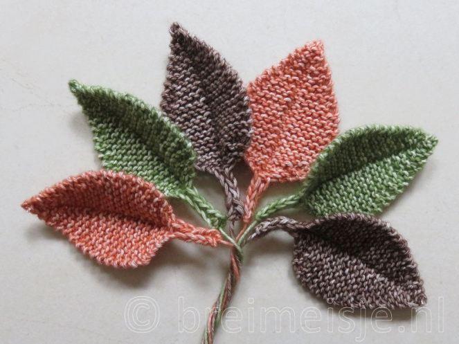 Herfst blaadjes breien patroon
