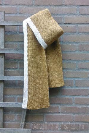 Sjaal breien met twee kleuren, patroon voor beginners