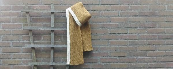 Sjaal breien met twee kleuren