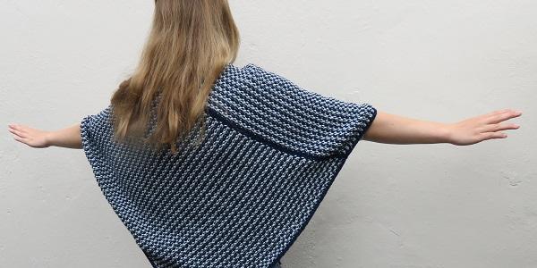 Poncho breien patroon beginners