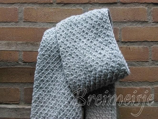 Sjaal breien patroon vlechtsteek