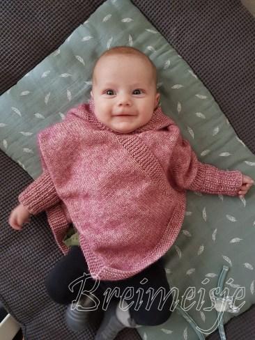 Baby poncho breien patroon maat 56-62