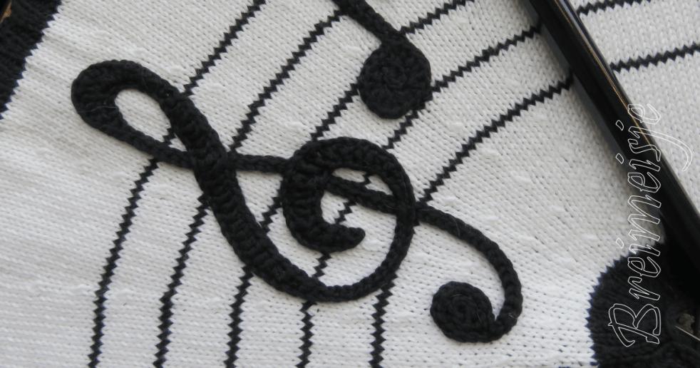 Muzieksleutel haken patroon
