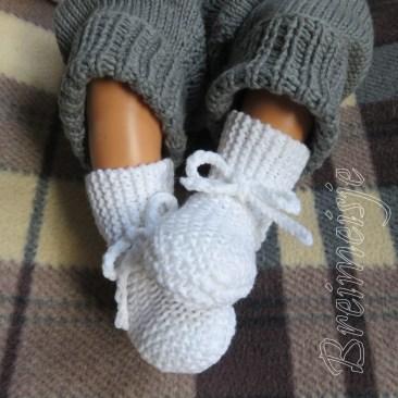 Gebreide babysokjes pasgeboren baby